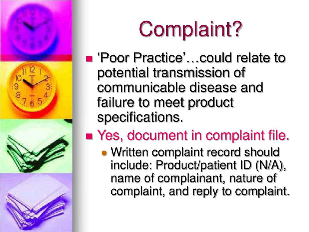 Complaint?