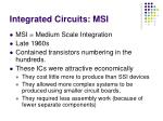 integrated circuits msi