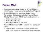 project mac