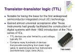 transistor transistor logic ttl