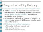 paragraph as building block e g13