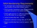 naia membership requirements