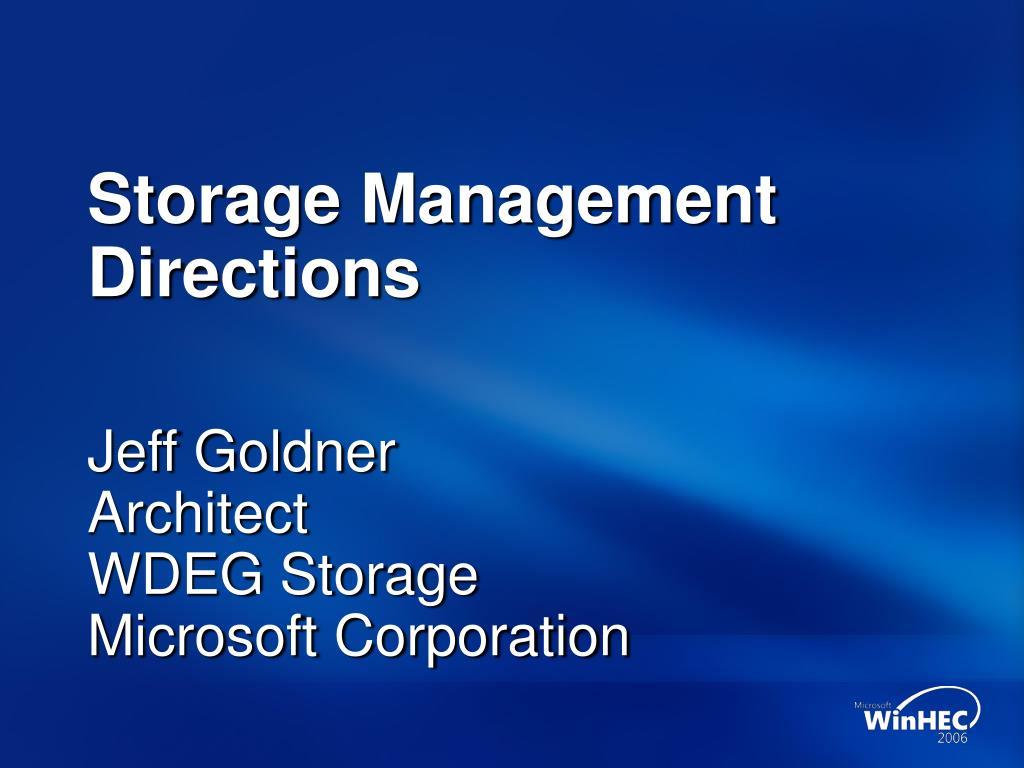 storage management directions l.