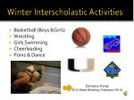 winter interscholastic activities