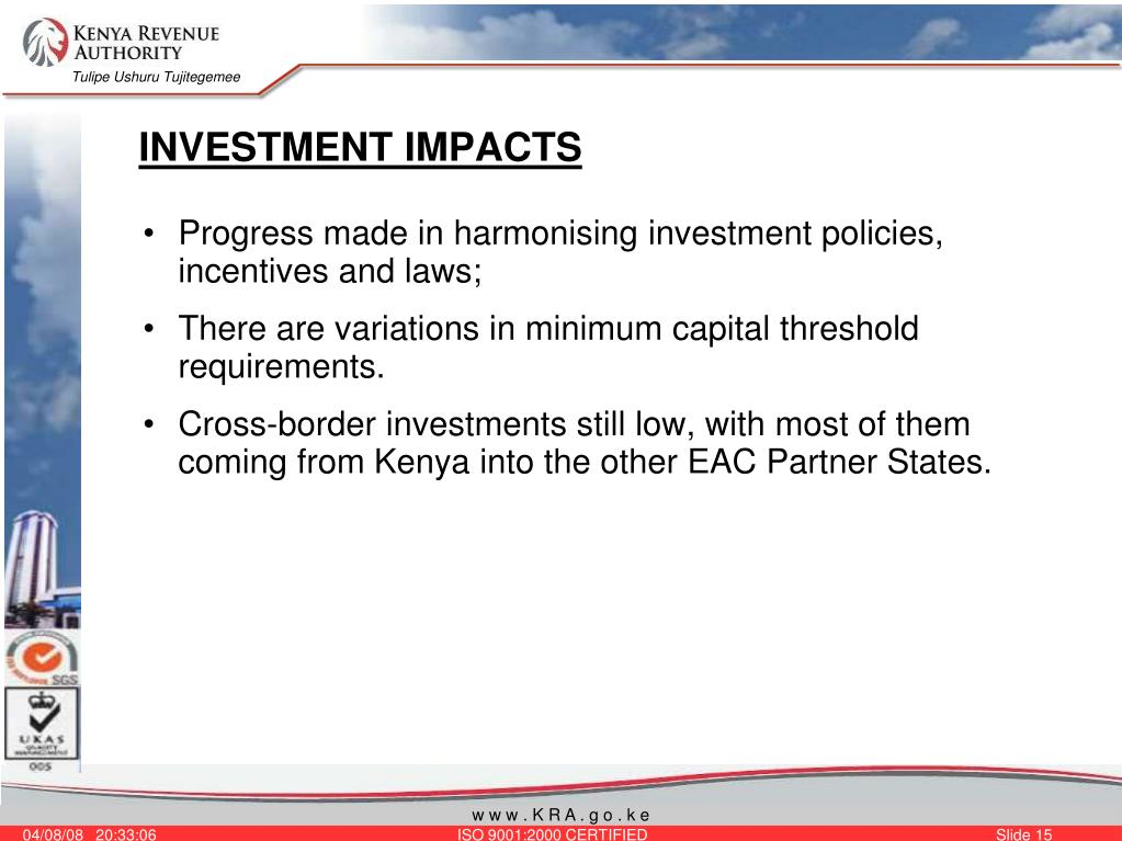 INVESTMENT IMPACTS