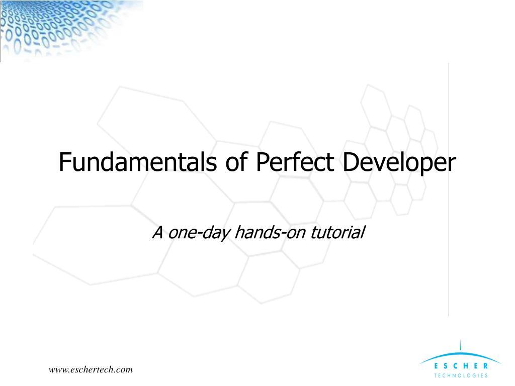 fundamentals of perfect developer l.