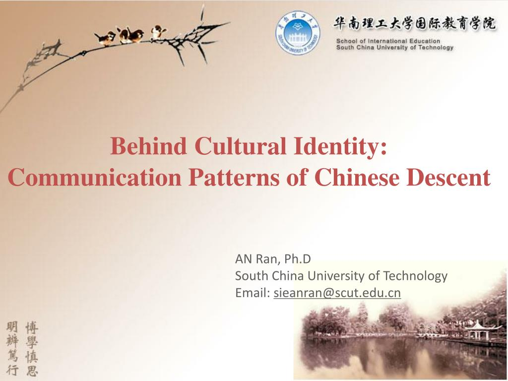 behind cultural identity communication patterns of chinese descent l.
