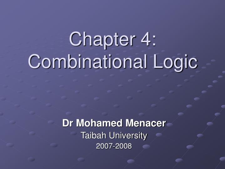 chapter 4 combinational logic n.