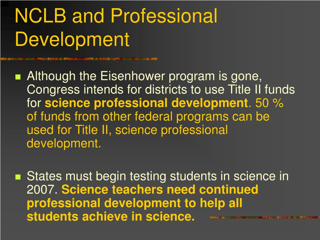 NCLB and Professional Development
