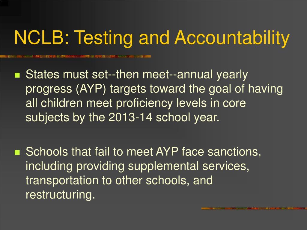 NCLB: Testing and Accountability