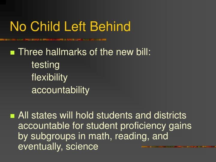 No child left behind3