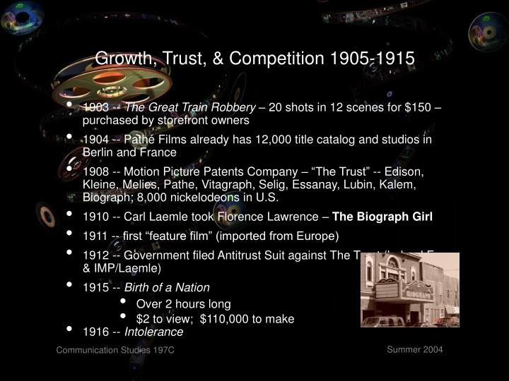 Growth, Trust, & Competition 1905-1915