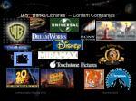 u s banks libraries content companies