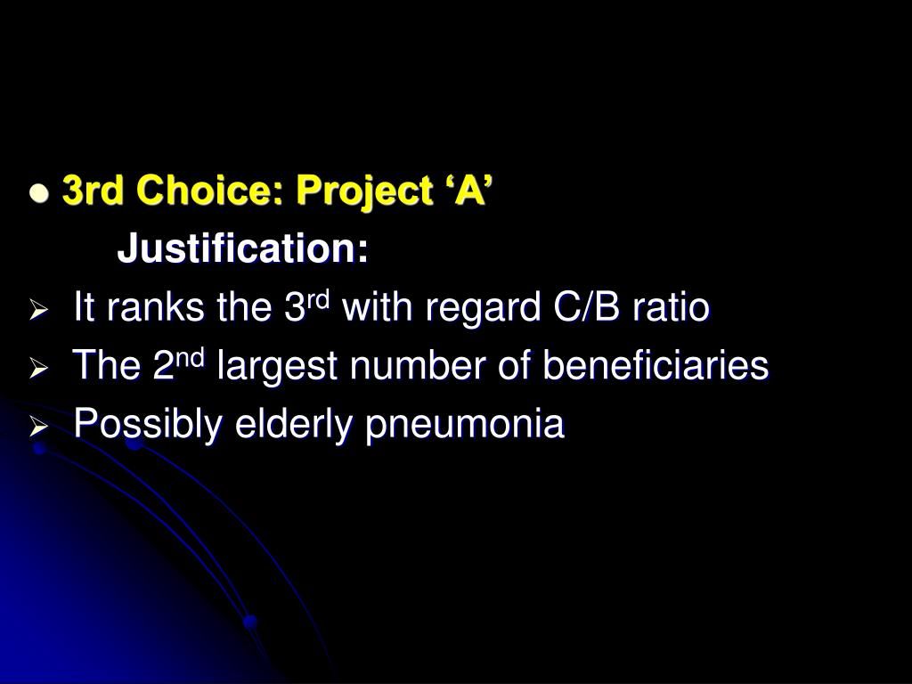 3rd Choice: Project 'A'