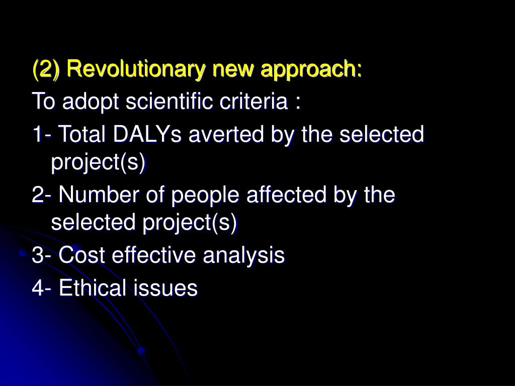 (2) Revolutionary new approach: