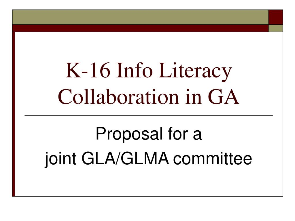 k 16 info literacy collaboration in ga l.
