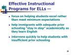 effective instructional programs for ells