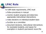 lpac role