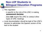non lep students in bilingual education programs41