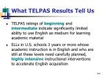 what telpas results tell us