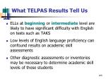 what telpas results tell us105