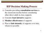 iep decision making process86