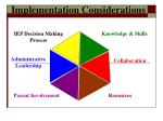 implementation considerations70