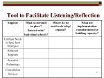 tool to facilitate listening reflection