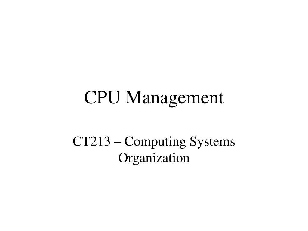 cpu management