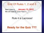 end of rules 1 2 and 3