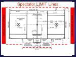 spectator limit lines