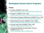 developing courses and or programs4