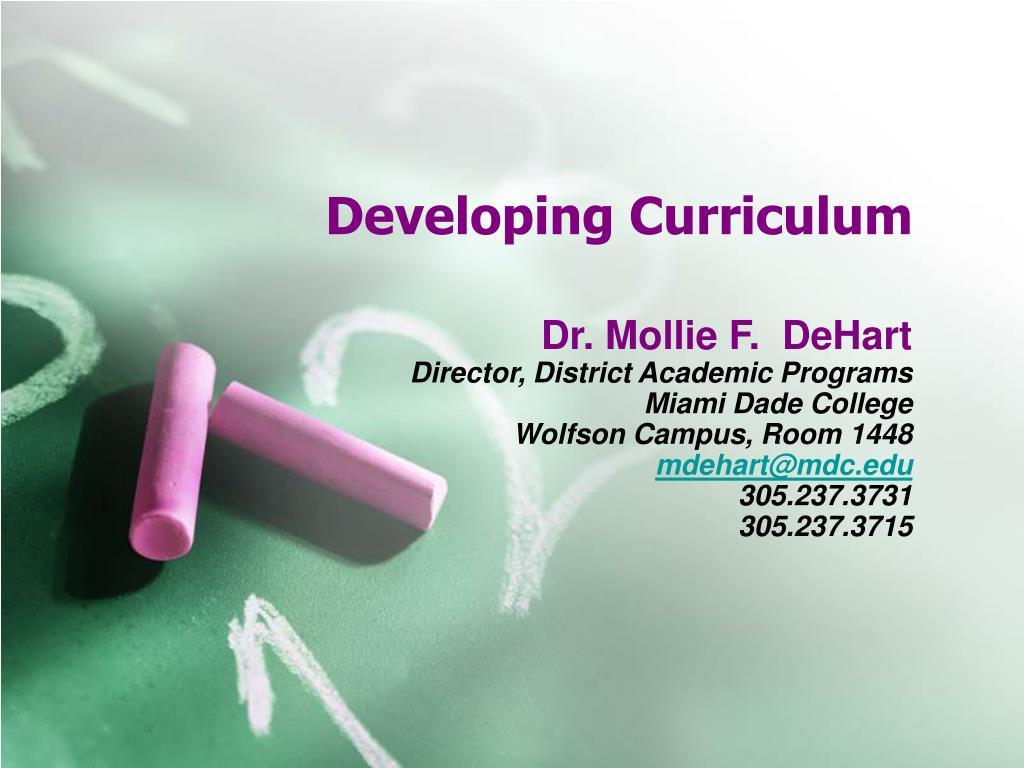 developing curriculum l.