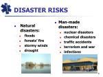 disaster risks