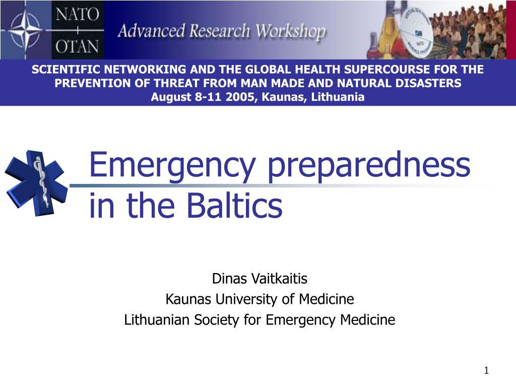 emergency preparedness in the baltics l.