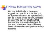 5 minute brainstorming activity23