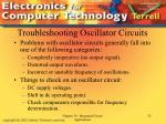 troubleshooting oscillator circuits