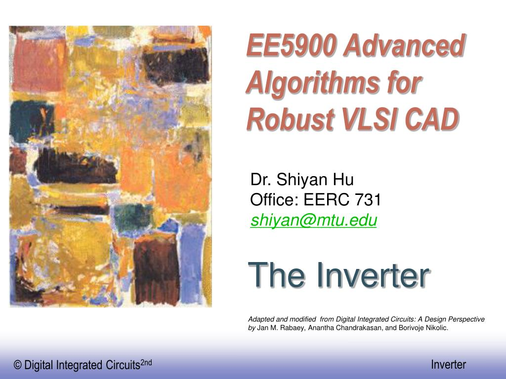 ee5900 advanced algorithms for robust vlsi cad l.
