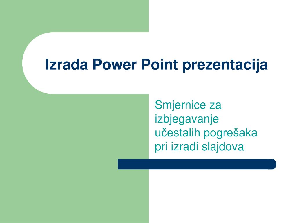 Ppt Izrada Power Point Prezentacija Powerpoint