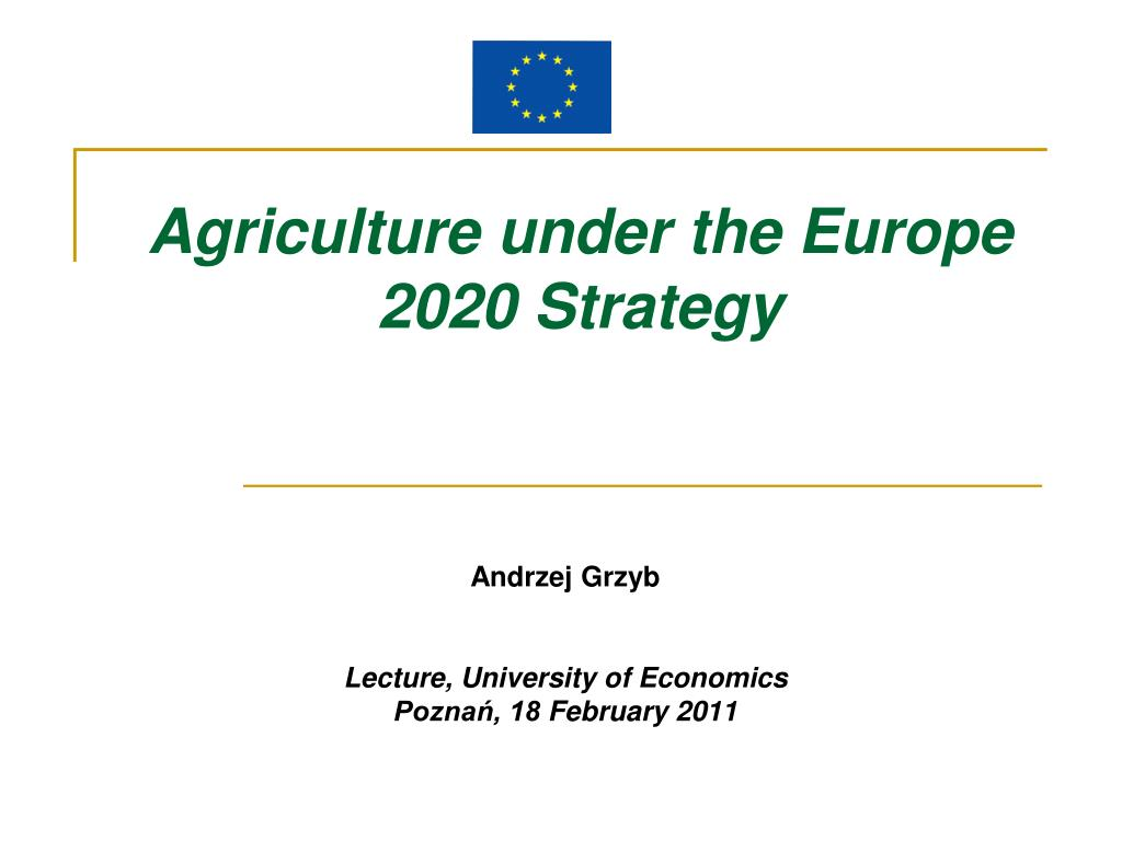 agriculture under the europe 2020 s trategy l.