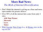 more bad news the myth of internet diversification
