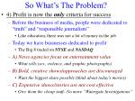 so what s the problem3