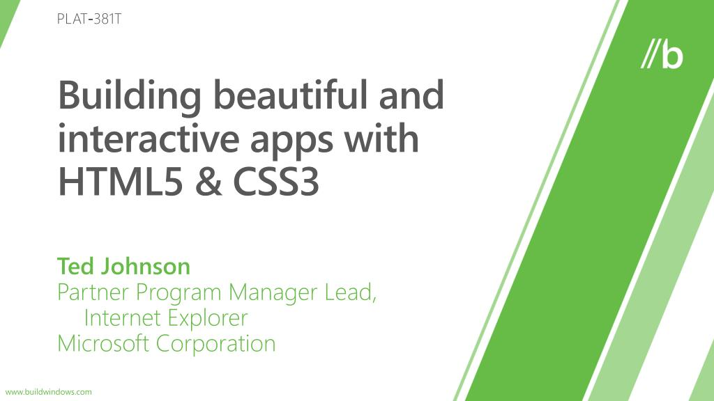 building beautiful and interactive apps with html5 css3 l.