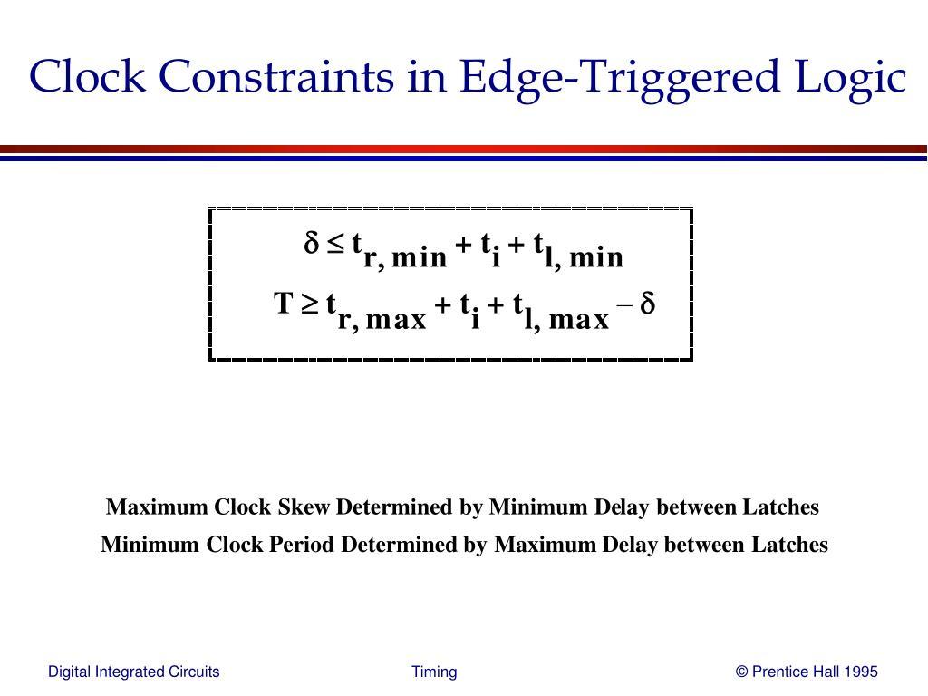 Clock Constraints in Edge-Triggered Logic