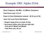 example dec alpha 21164