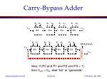 carry bypass adder