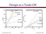 design as a trade off