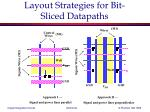 layout strategies for bit sliced datapaths
