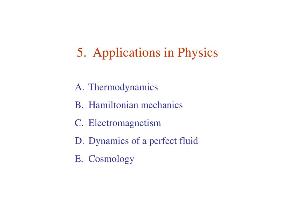 5 applications in physics l.