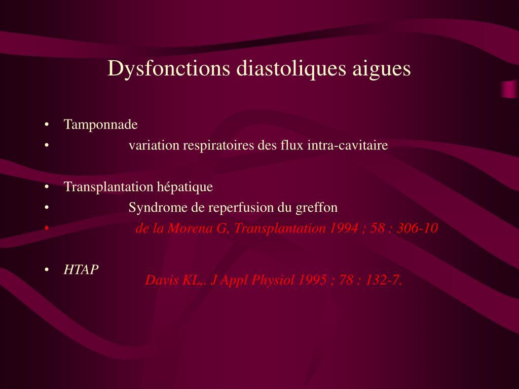 PPT - OAP FLASH ET TROUBLE DE LA FONCTION DIASTOLIQUE..